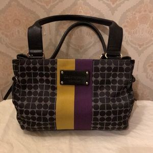 Kate Spade fabric bag with colorful accent